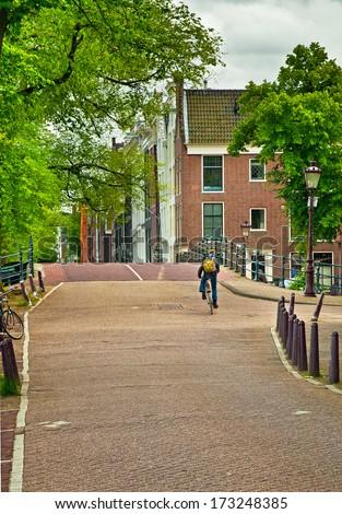 Bridge in Amsterdam - stock photo