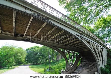 Bridge in Central Park - stock photo
