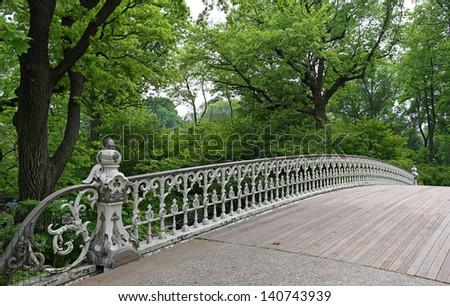 Bridge in Central Park of New York City - stock photo