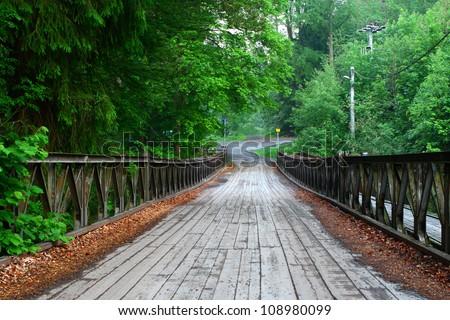 Bridge in czech country - stock photo