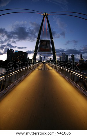 Bridge in Frankfurt - stock photo