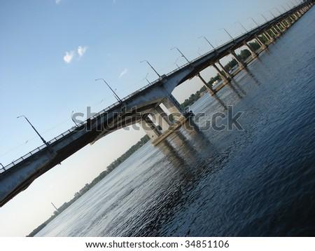 Bridge in Future - stock photo