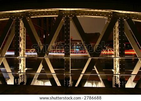 bridge in Hamburg Speicherstadt - stock photo