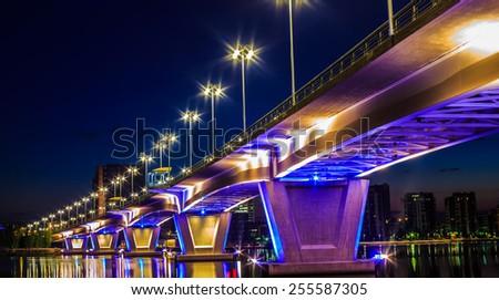 bridge in Jyväskylä - stock photo