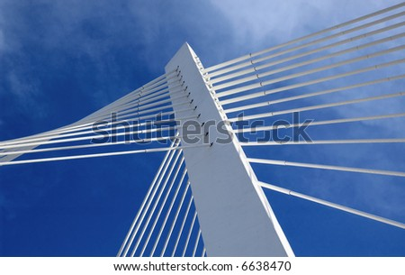 Bridge in moder architecture style. - stock photo