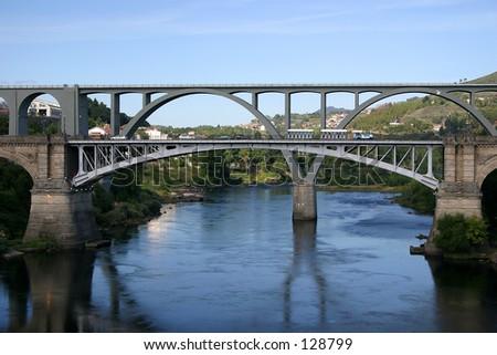 Bridge in Pontevedra, Spain - stock photo