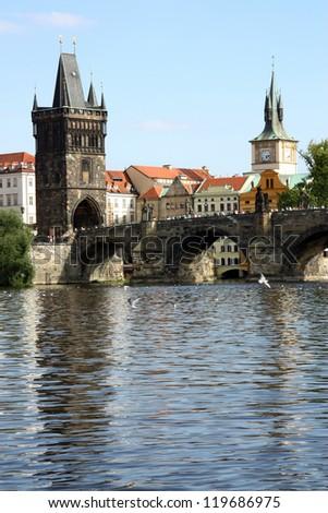 Bridge in Prague - stock photo