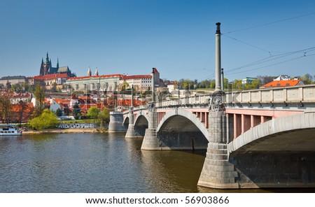 Bridge in Prague, Czech Republic - stock photo