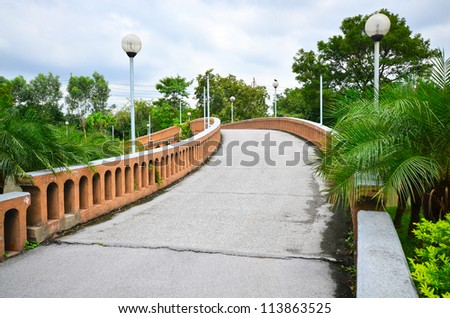 Bridge in public park - stock photo