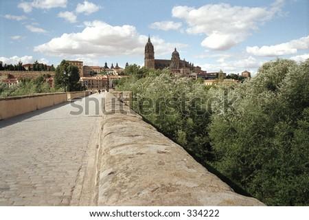 bridge in Salamanca, Spain - stock photo