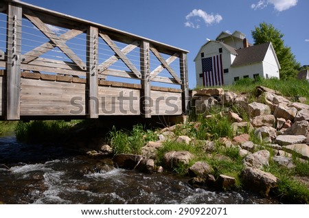 Bridge in the Country with Brook