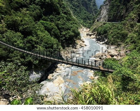 Bridge in the forest, Taroko