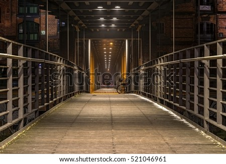 Bridge in the Speicherstadt, Hamburg, Germany