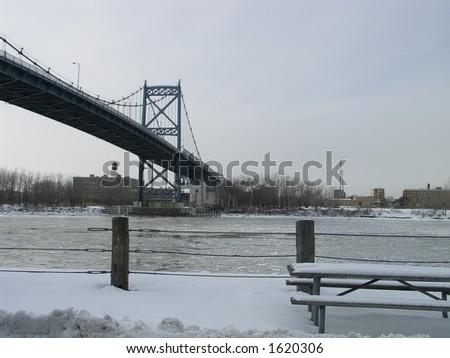 Bridge in Toledo - stock photo
