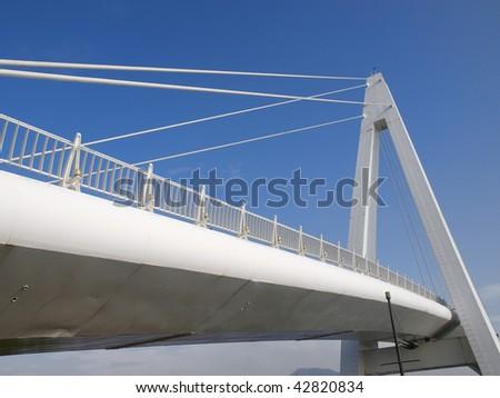 Bridge in wharf - stock photo
