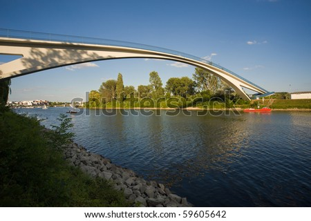 Bridge in Wiesbaden/Germany - stock photo