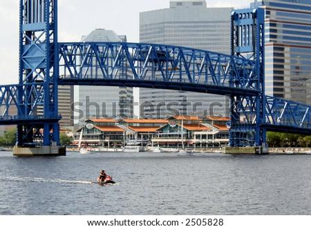 Bridge is up - stock photo