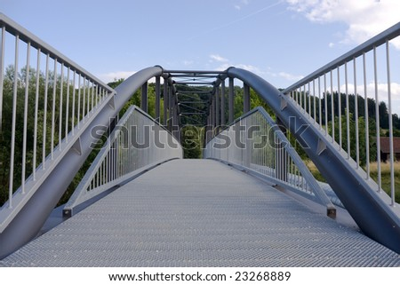 bridge made of steel - stock photo