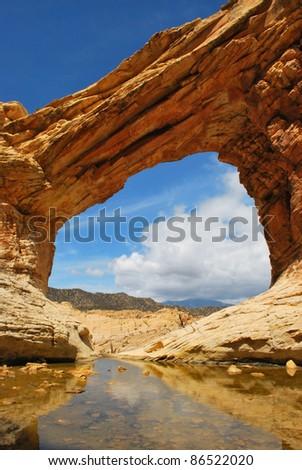 bridge mountain - stock photo