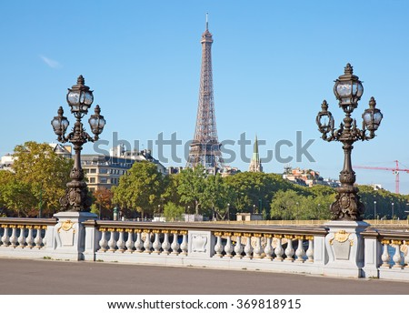 Bridge of Alexandre III in Paris, France  - stock photo