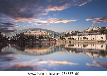 Bridge of Peace in Tbilisi - stock photo