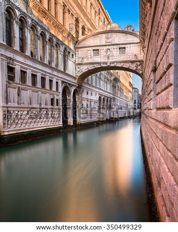 Bridge of Sighs and Doge's Palace in Venice, Italy