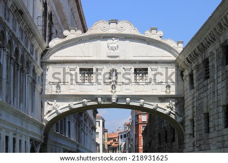 Bridge of Sighs in Venice - stock photo