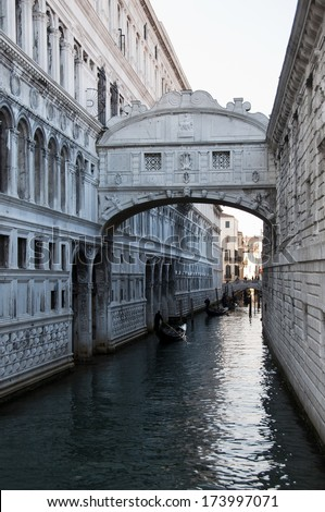 Bridge of Sighs - Ponte dei Sospiri.  Venice,Veneto, Italy, Europe. - stock photo