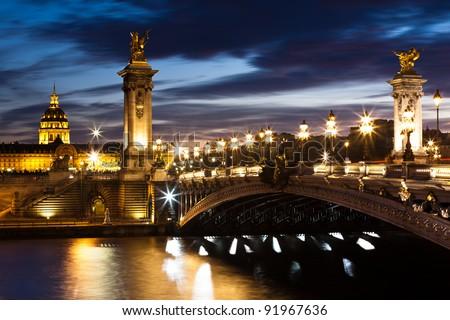 Bridge of the Alexandre III, Paris - stock photo