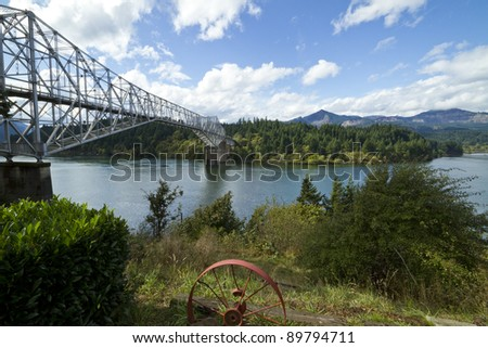 Bridge Of The Gods spanning the Columbia River.