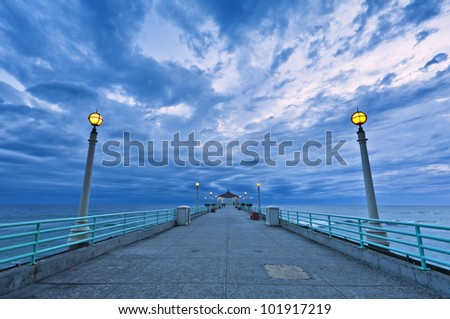 bridge on the beach