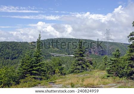 Bridge on Trans Canada Highway near Superior Lake - stock photo