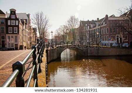 bridge over the canal in Amsterdam