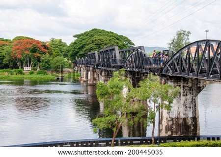 Bridge over the River Kwai in Kanchanaburi province, Thailand.It is part of Death Railway between Thailand and Burma