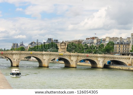 Bridge over the Seine. Paris. France - stock photo