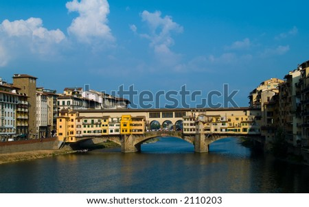 Bridge Ponte Vecchio in Florence. - stock photo