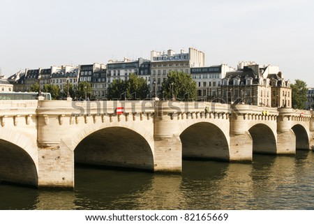 Bridge spanning the river Seine in Paris, France