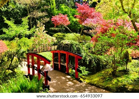 Bridge through beautiful japanese gardens victoria stock photo 100 bridge through beautiful japanese gardens victoria bc canada thecheapjerseys Images