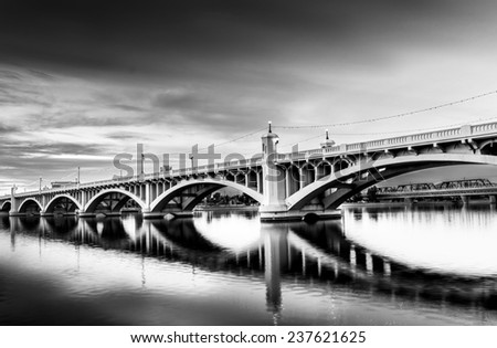 Bridge to somewhere - stock photo