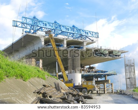 Bridge under construction