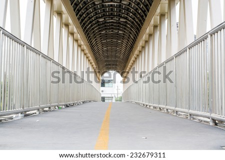 bridge walkway - stock photo