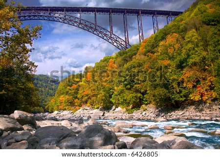 Bridger over New River in West Virginia - stock photo