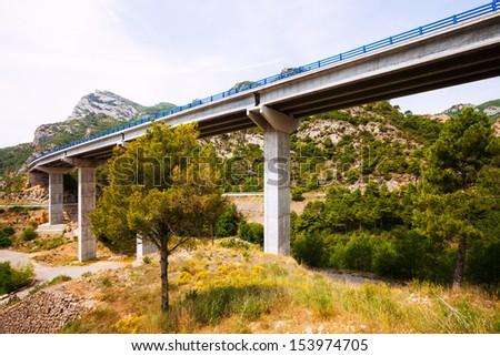 bridges in the mountains. Lleida, Catalonia - stock photo