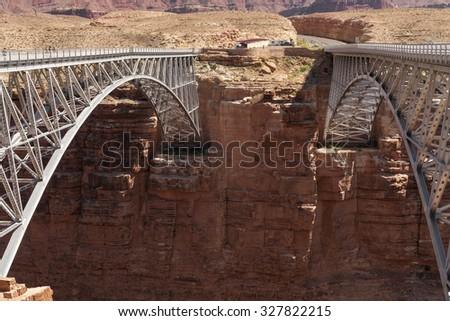 Bridges over Colorado river - stock photo