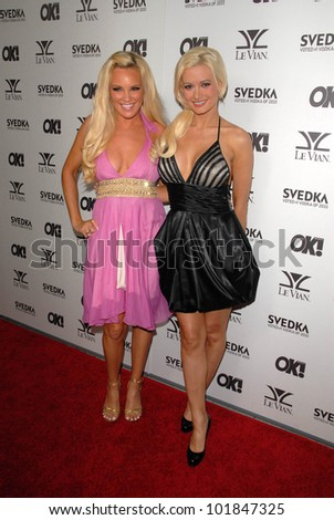 Bridget Marquardt and Holly Madison  at the OK Magazine USA Fifth Anniversary Party, La Vida, Hollywood, CA. 08-01-10