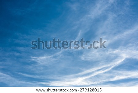 bridht blue sky with clouds - stock photo