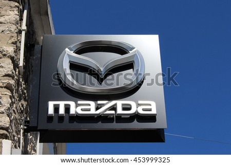 BRIE COMTE ROBERT, FRANCE - JULY 17, 2016: Mazda Motor Corporation is a Japanese automaker.