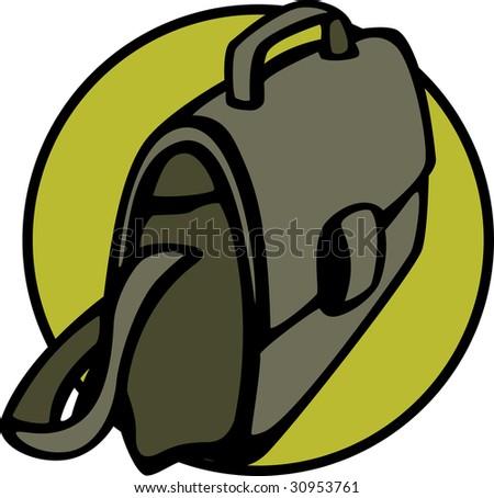 briefcase bag - stock photo