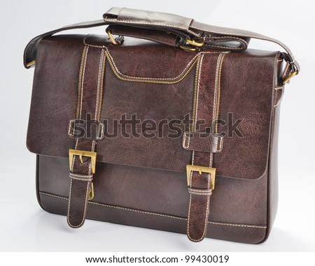 briefcase isolated on white background - stock photo