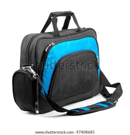 briefcase on a white background. - stock photo